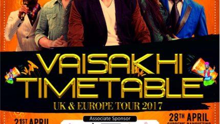 KULWINDER BILLA - VAISAKHI TIMETABLE UK & EUROPE TOUR 2017